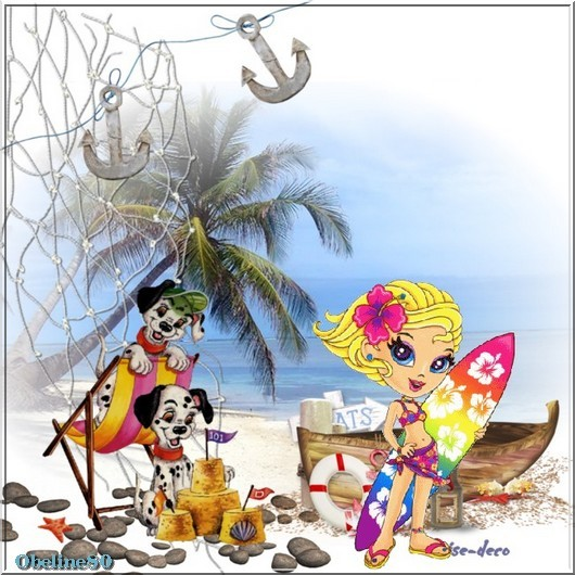 vos créations  avec le cluster vacances à la mer en gif