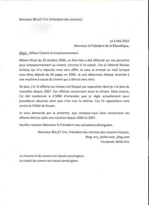 EMPOISONNEMENT  PAR LE CIMENT - ERIC BELLET