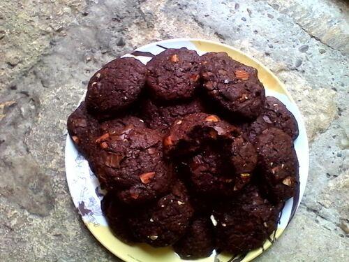 Cookies très Chocolat et Amandes {Vegan}