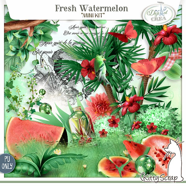 mini kit fresh watermelon de kittyscrap