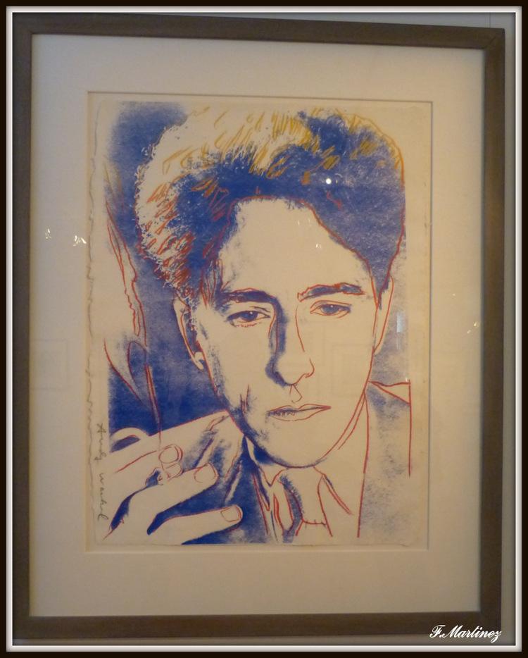 portrait de Cocteau par Andy Warhol
