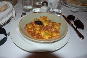Raviolis à la bolognèse