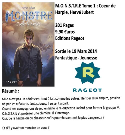 M.O.N.S.T.R.E Tome 1 : Coeur de Harpie, Hervé Jubert