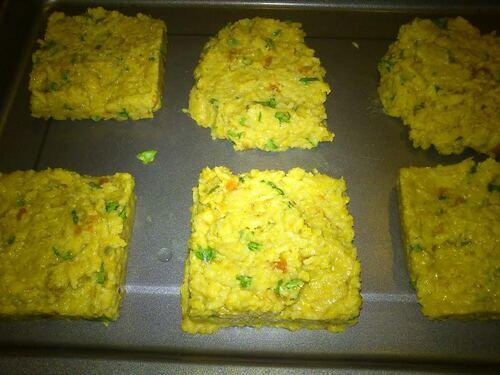 # Réveillon du Nouvel An # Galettes végétale lentille corail/riz/curry