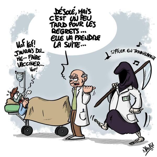 Les caricaturistes ne désarment pas au sujet des vacances, du Covid et des pass sanitaires...et leur  ton est souvent très amer...