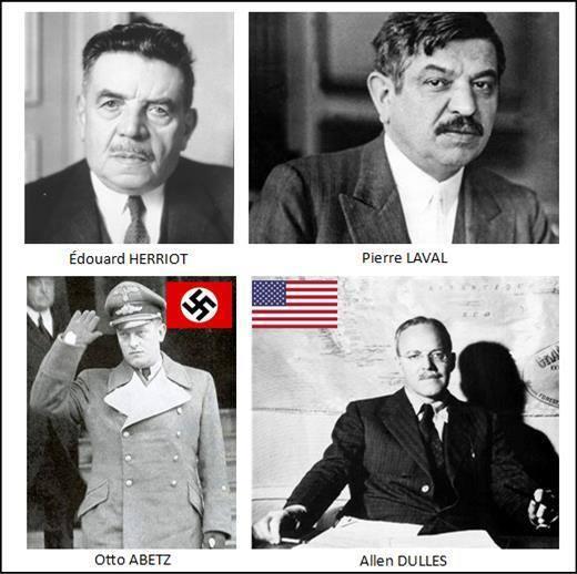 CIA Allen Dulles et l'ambassadeur d'Hitler à Paris Otto Abetz