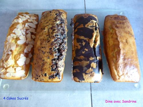 Quatre Cakes sucrés pour Une seule Préparation