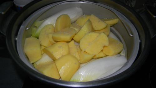 Endive au jambon et pommes de terre