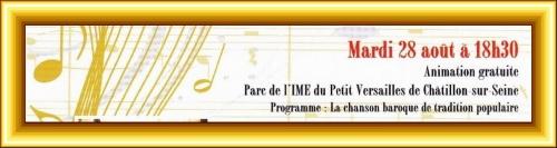 Une belle animation musicale au château du Petit Versailles à Châtillon sur Seine...