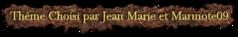 défis de Jean Marie