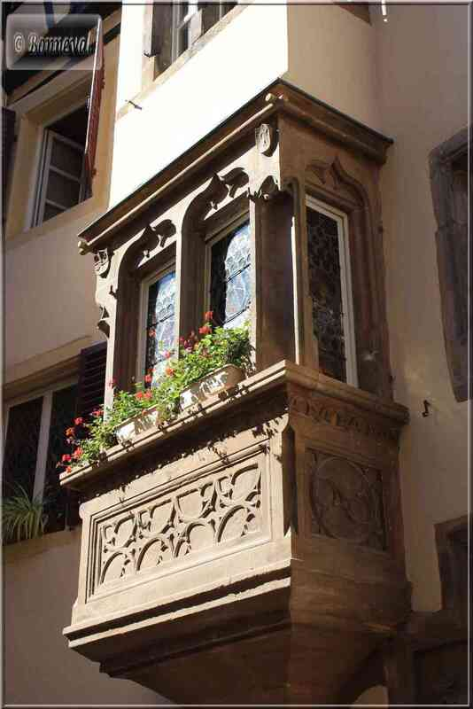 Alsace Haut-Rhin Colmar Maison Schongauer oriel