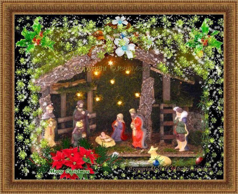 la crèche de Noël(Copyright numéro de dépôt c97634 )