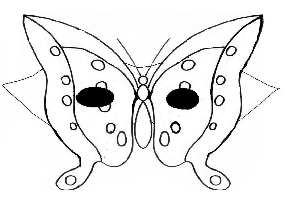 Masques en folies papillon moyenne section blog d - Papillons a colorier ...