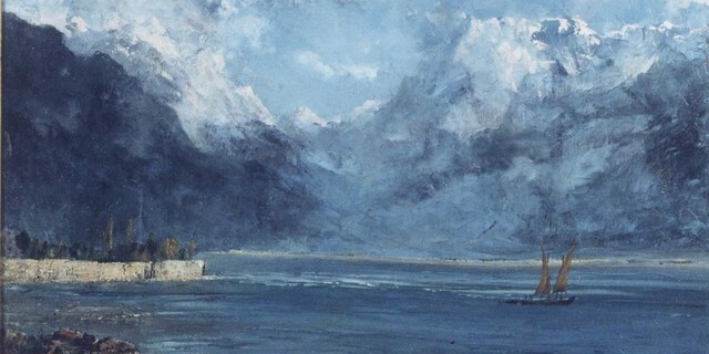 Gustave Courbet, Vue du Lac Leman, 1876