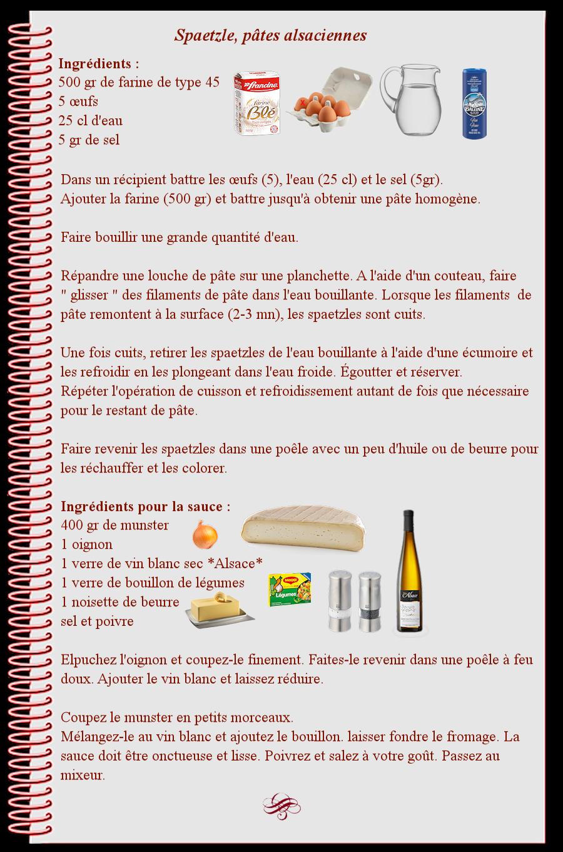 Spaetzle, pâtes alsaciennes