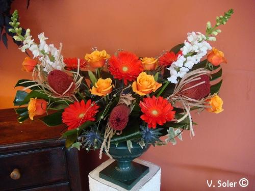 composition florale médicis