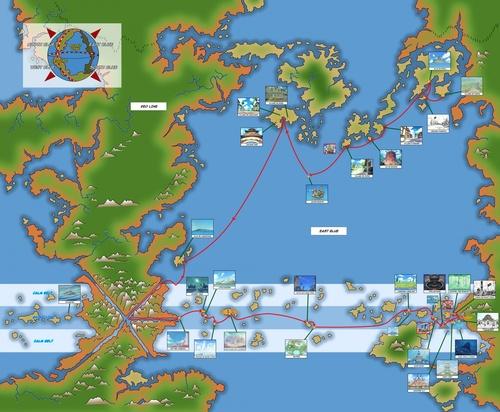 Les Mers De One Piece