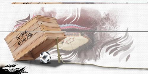 dessin de JERC et Akaku du mardi 19 juin 2018 caricature coupe du monde en Russie foot wah de ma gueule ! www.facebook.com/jercdessin @dessingraffjerc