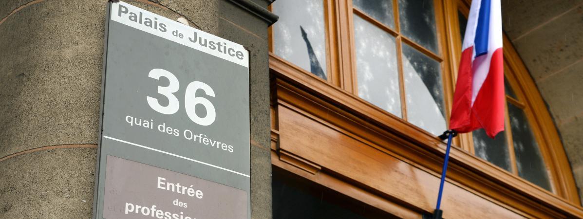 L'entrée du 36, quai des Orfèvres, qui abrite la police judiciaire, à Paris le 6 août 2014.
