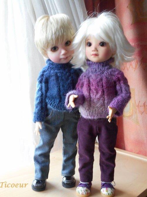 tenue d'hiver pour Finn et Capucine