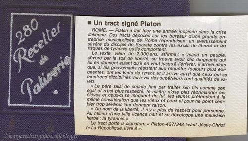 Un tract signé Platon