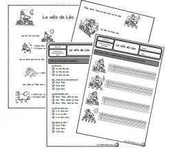 Le vélo de Léo, lecture, compréhension, Cp, autonomie