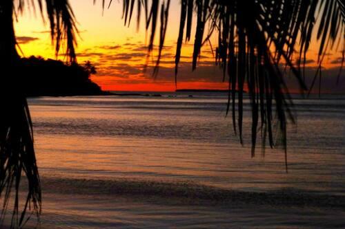 Coucher de soleil à la plage de Babou Côté Océan - Cliquer pour agrandir