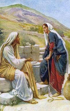 Entre Tes mains, Jésus, voici l'Eau vive.....