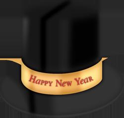chapeau haut de forme de nouvel an