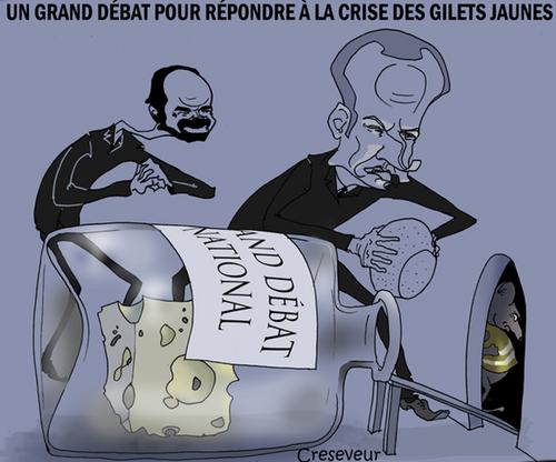 Le « Grand » débat : quand Macron écrit aux Français…