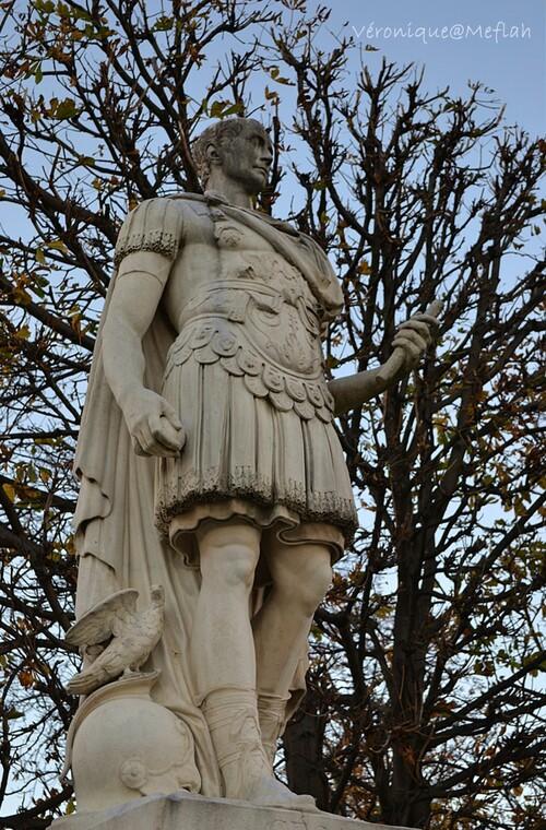 Jardin des Tuileries : Jules César de Ambrogio Parisi - 1693 -