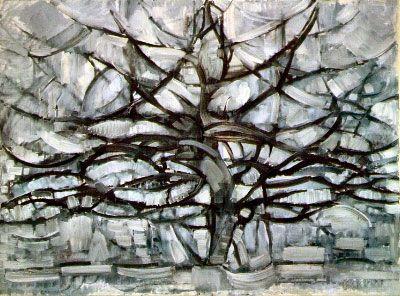 Les arbres à la manière de Mondrian