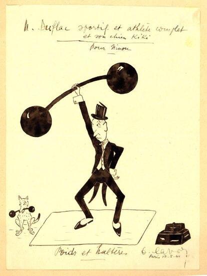 """* Des dessins humoristiques signés """"Duflac""""  période comprise entre le 10/5/41 et le 28 /9/42."""