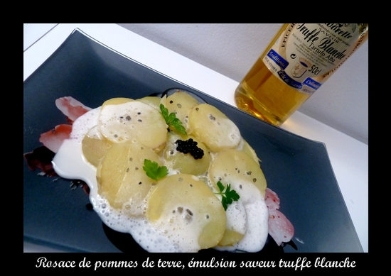 pomme de terre emulsion truffe blanche