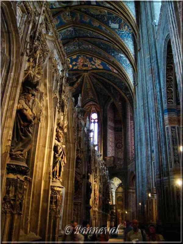 Cathédrale Sainte-Cécile d'Albi côté du Jubé