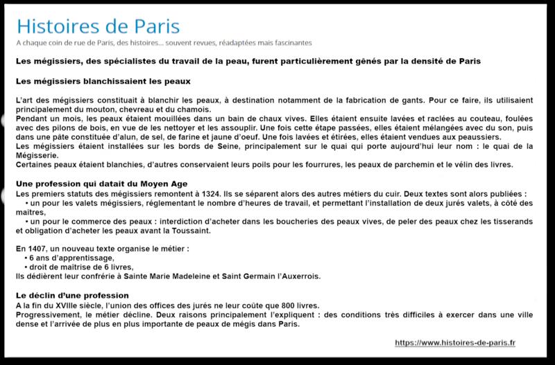 Tanneurs et mégissiers à Paris