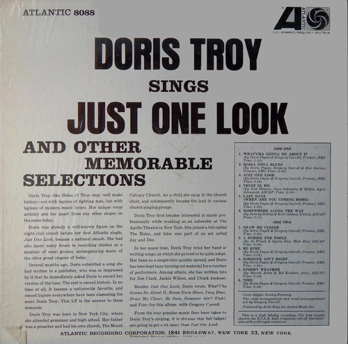 "Doris Troy : Album "" Just One Look "" Atlantic Records SD 8088 [ US ]"