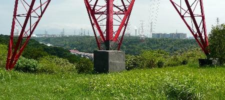 Pylône haute tension à Gueishan