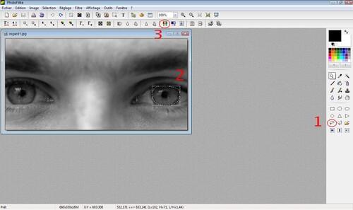Changer la couleur des yeux sur une photo