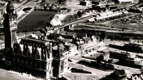 Les bâtiments de l'ancien collège Jean-Jaurès à Calais