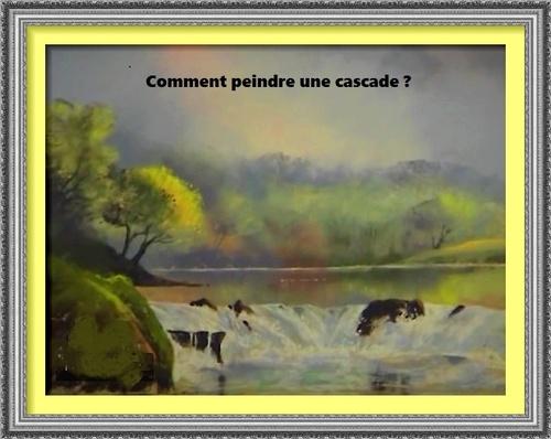 Dessin et peinture - vidéo 2726 : Comment peindre une cascade ?- démonstration de la réalisation d'un pastel