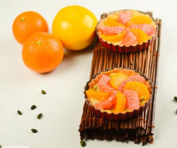 Tarte aux agrumes et crème de pistache