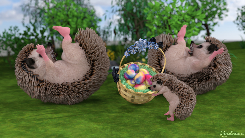 Fond d'écran : Les hérissons de Pâques (Fin)