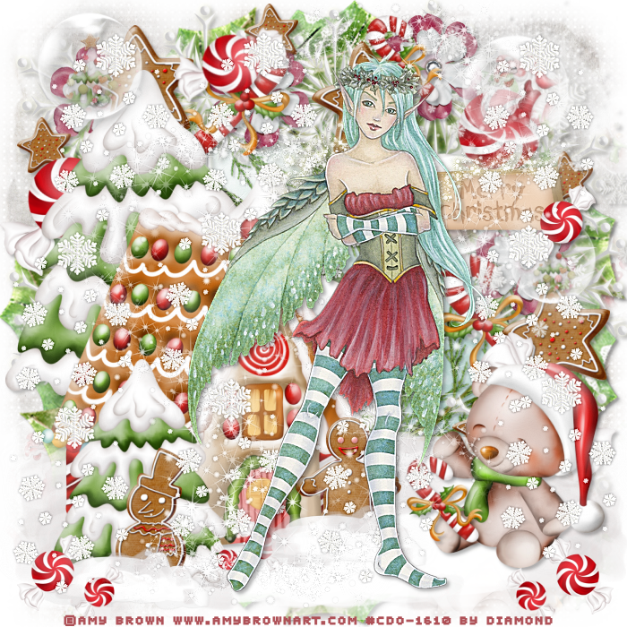 "Tutoriel ""christmas candy "" de Cookie Creations"