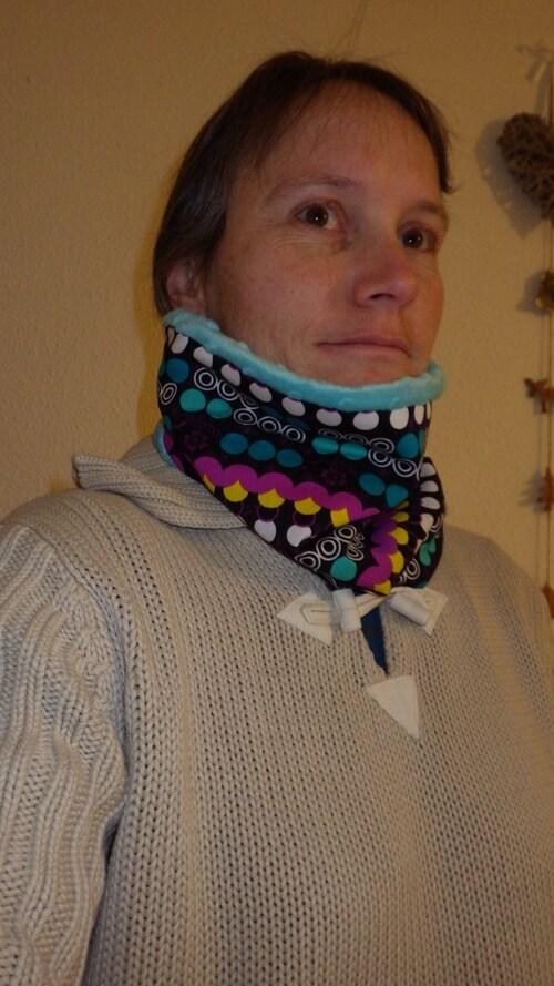 un snood pour skier au chaud