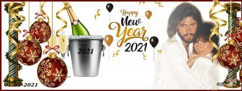 Créas bannières chanteurs - bonne année 2021