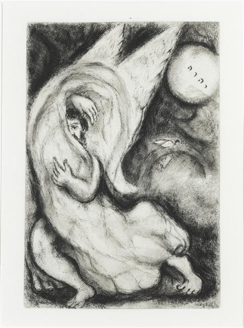 Marc Chagall | Le Pardon de Dieu annoncé à Jérusalem (Isaïe, LIV, 6-10) | Images d'Art