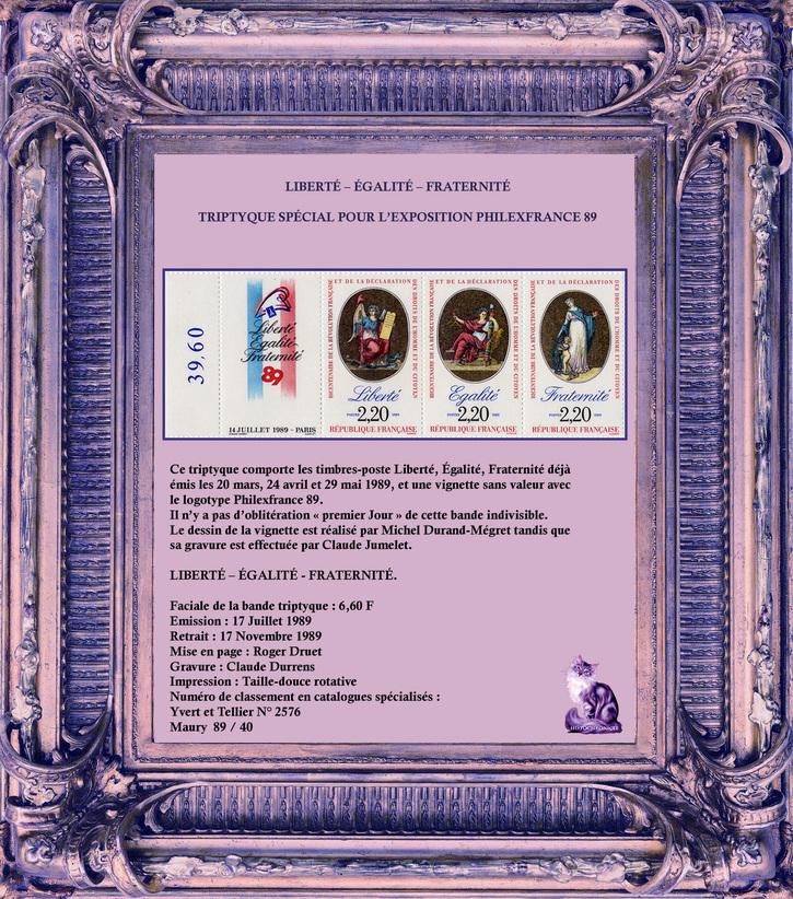 Philatélie: Bicentenaire de la Révolution française de Philipe - Partie 3