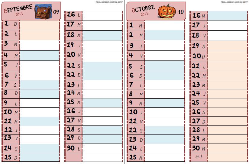 Nouveau calendrier fa on caracolus la classe de charlotte - Creer son calendrier ...