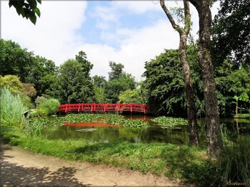 Paysages et décorations du parc floral de la Court d'Aron